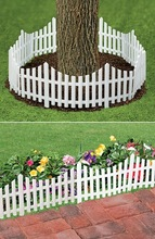 White Decorative Plastic Garden Fencing