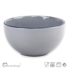 13.8cm antique brushed gray color bowl/Dinnerware/tableware