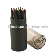 "7"" Black nature wood color pencil set"
