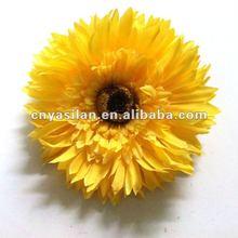 5'' satin silk Ruffle Gerber Daisy flower IN STOCK 2012 NEW SYTLE