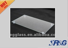 tempered clear glass cutting board with high foot pad