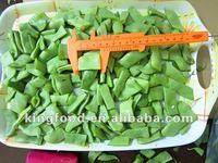 Green frozen romano beans cut