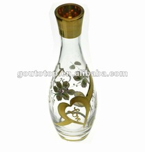 glass bottles /for alcohol drink/2012 real gold decoration