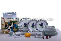 30pcs round melamine tableware new design