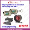 BATTLESNAKE hopping code remote starter two way car alarm system