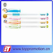 Hot sales multicolor metallic gel ink pen