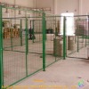 Vinyl coated green welded segregating workshop fence