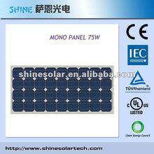 65W, 70Watts, 80W monocrystalline solar panel 75W