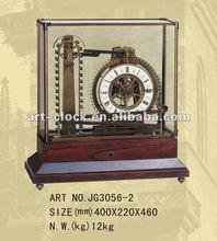 brass water mill dynamic tatle antique table clock
