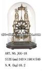 Royal brass Europe skeleton antique clock