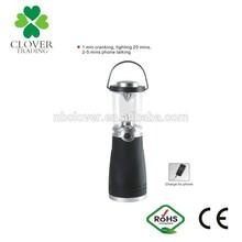 camping using sunlight led emergency 4 led dynamo hand crank led rechargeable lantern