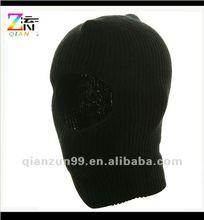 Black One Hole Knit Ski Mask