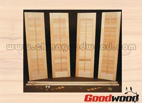 En forme bois persiennes portes de placard volets id du produit 587833541 for Placard persienne bois
