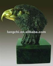 100% handmade Eagle Head Bronze Sculpture TPM-007