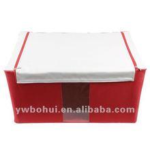 2015 new non woven folding storage box basket