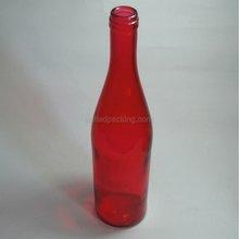 750ml ruby glass bottle for wine