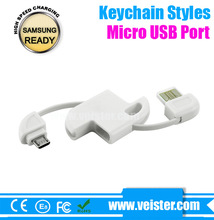 Unique High Speed Charge & Sync Style Keychain USB Cable For Samsung