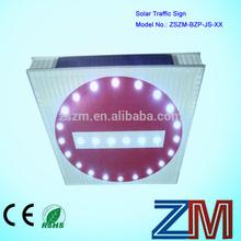 Led de aluminio Solar camino señal de tráfico / No Parking Sign / Traffic Warning Sign