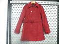 2014 moda de invierno de señora Classic red abrigo de paño de lana