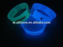 silicone wristband band glow in the dark ,silicon wristband,glow in the dark silicone bracelet
