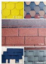 colorful asphalt shingles / asphalt tar / roofing shingle tile