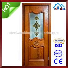 de alta calidad de simple de madera de teca de los diseños de la puerta