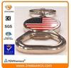 USA flag cloisonne enamel both ends Metal Alloy key chain beer bottle opener