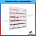 estante de pared polaco de moda de uñas de acrílico con 6 niveles clara