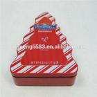 Christmas gift triangle shape tin box