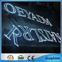 custom acrylic led edge lit sign for advertising