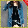 2015 top latest design cheap girls jeans shirt,new fashion long sleeve women jeans coat,elegant long women jeans shirt