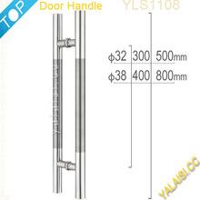 """H shape polish both side 304 stainless steel door pull handle for 8-12mm(1/3"""",3/8"""",1/2"""") entrance exterior glass door wood door"""