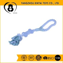 Hot sale rubber bone dog rope toy