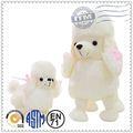 Super suave tela lindo perro de juguete de felpa, juguetes de peluche personalizados, juguete de la felpa de los perros que parecen reales