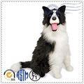 Super suave tela lindo perro de juguete de felpa, juguetes de peluche personalizados, negro y blanco de peluche de felpa de los perros