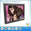 Slim cadre étroit 12 pouces écran hd et wifi cadre photo numérique en option, lcd cadre photo numérique