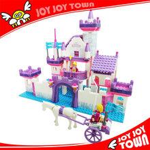 kindergarten toys enlighten brick plastic houses for kids cheap mini diy dollhouse novel toys for children frozen castle 24703