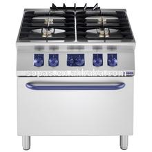 sopas 700 series Commercial Kitchen Equipment 4 burner Gas Cooking Range