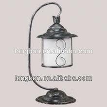 artistic wrought iron lamp