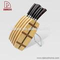 madeira pakka forjado com cabo de faca de cozinha conjunto