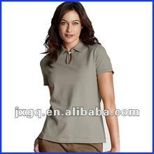 Wholesale plain color slim fit high quality 100% cotton ladies polo shirts