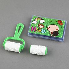 INTERWELL LWS671 Rolling Cartoon Rubber Stamp, Kids Toy Custom Stamp
