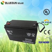 Bluesun wholesale storage batteries 12v ups rechargeable battery 100AH with wide European Market