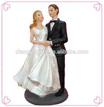 Wedding table decoration couple Bride and Groom resin wedding cake decoration