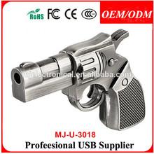 2014 promotional gift,100% new metal revolver Gun USB Flash Drive