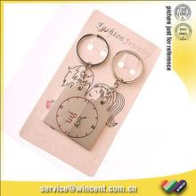 Zinc Alloy Clock Cute Couple Love Keychain