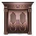 buena calidad de la hoja de una sola entrada de cobre imitar a la puerta de la fábrica