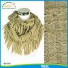 infinity fringe scarf,winter acrylic knit fringe scarf