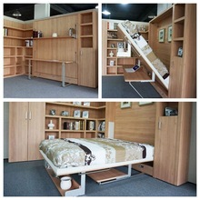 smart furniture , pull down bed, wall bed murphy bed with desk