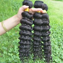 100% unprocessed raw wholesale virgin indian deep curly human hair
